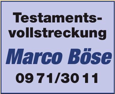 Testamentsvollstreckung Marco Böse