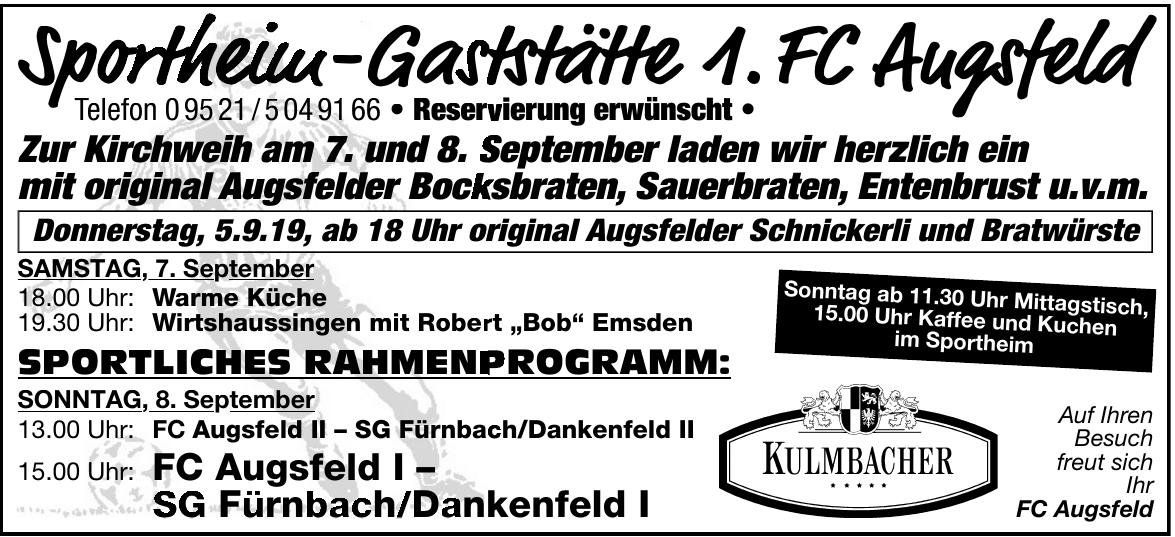 Sportheim - Gaststätte 1. FC Augsfeld