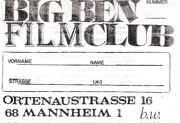 Die Vorführungen in der heimischen Garage waren irgendwann so erfolgreich, dass Hofmann seinen eigenen Filmclub gründete. BILD: PRIVATARCHIV HOFMANN