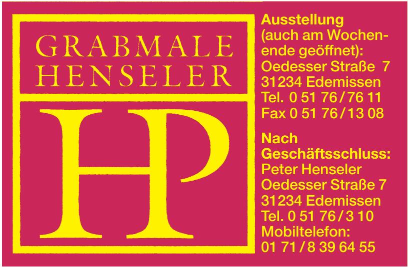 Grabmale Henseler