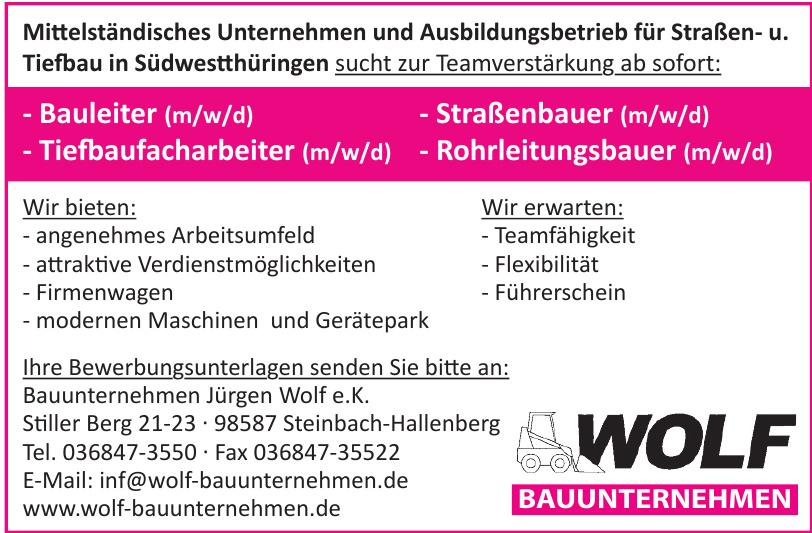 Bauunternehmen Jürgen Wolf e.K.