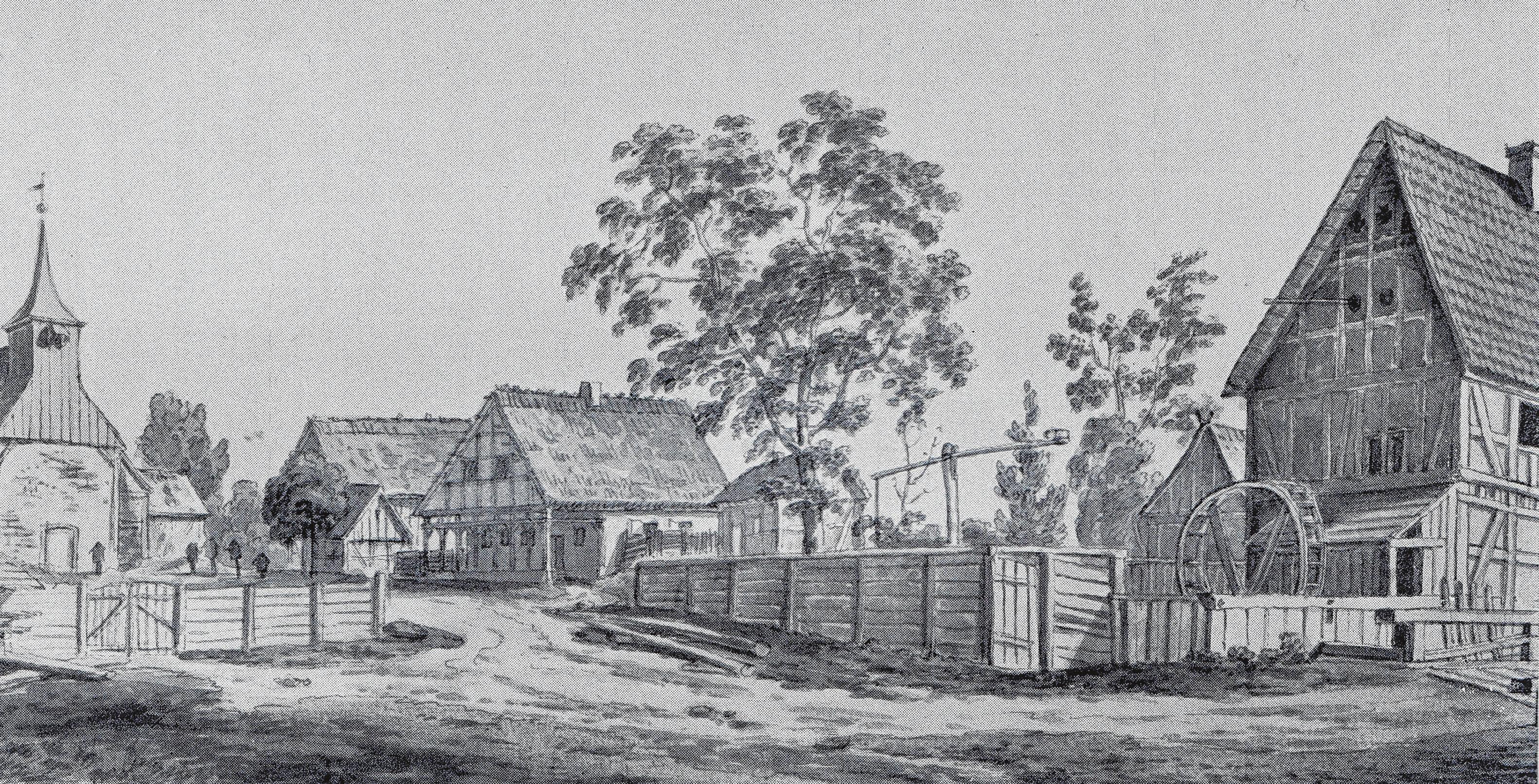 Die historische Zeichnung zeigt Birkenwerders Ursprung. Foto: Sammlung Jörn Lehmann