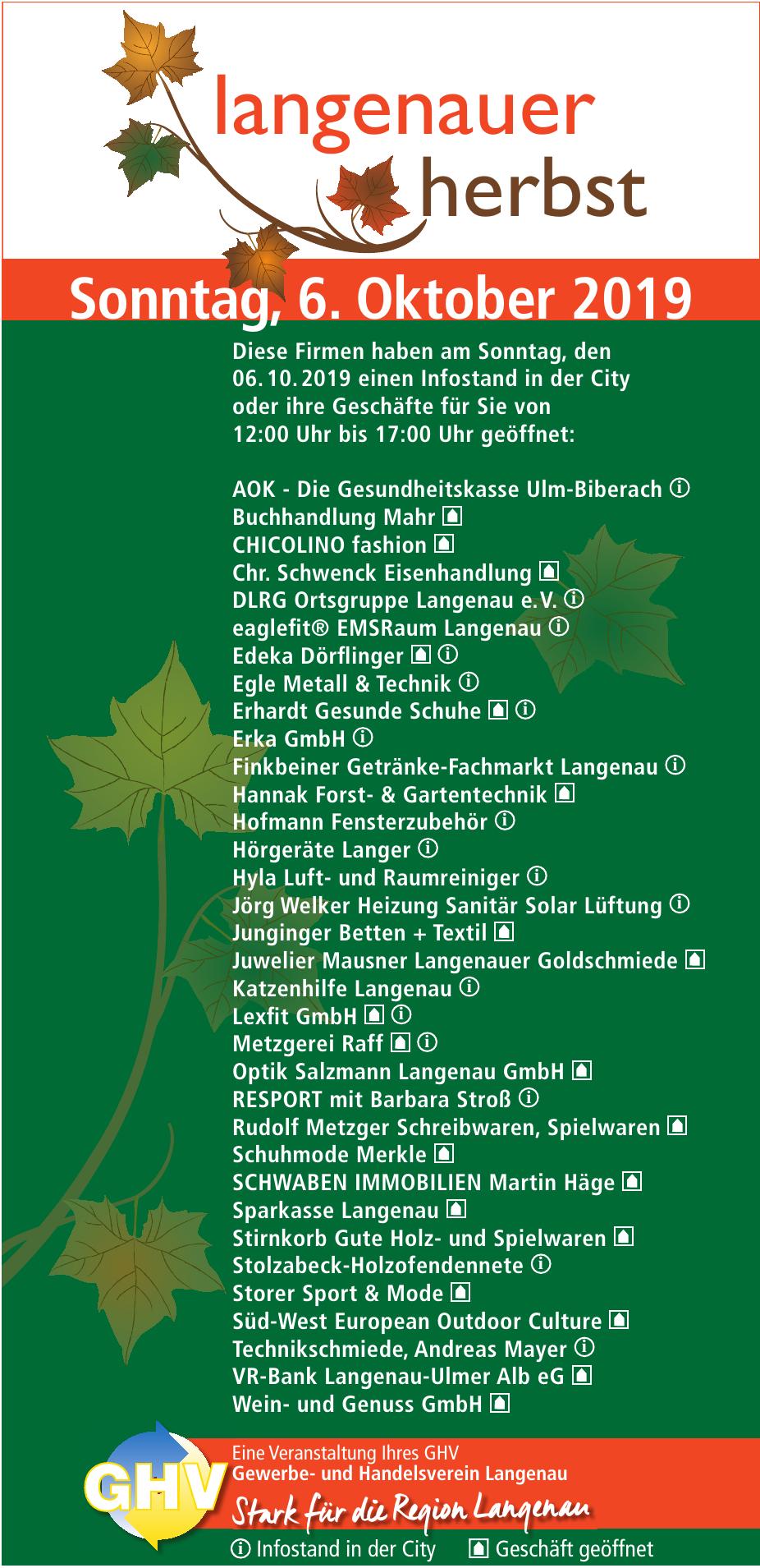 GHV Gewerbe- und Handelsverein Langenau