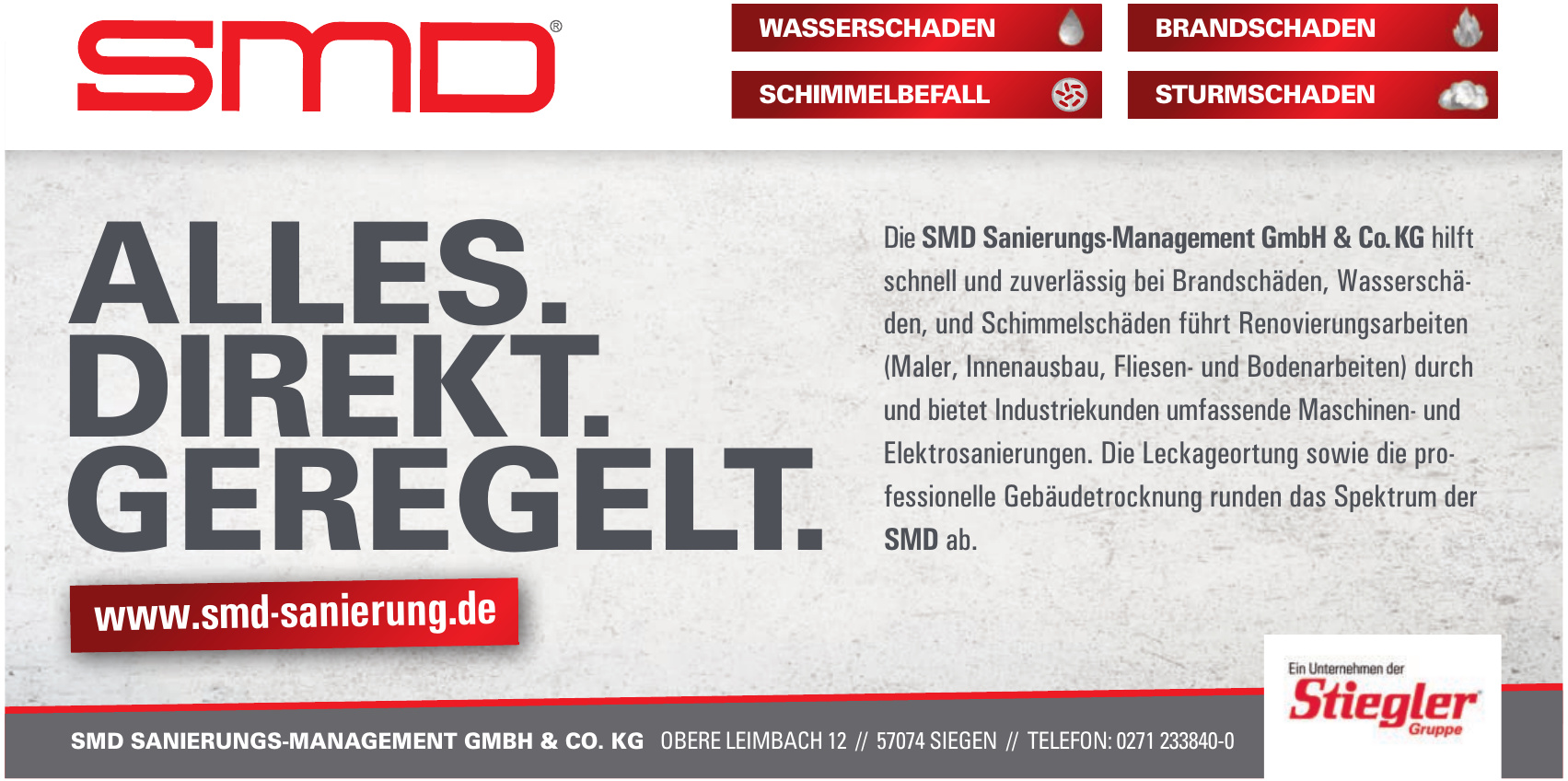 Die SMD Sanierungs-Management GmbH & Co. KG