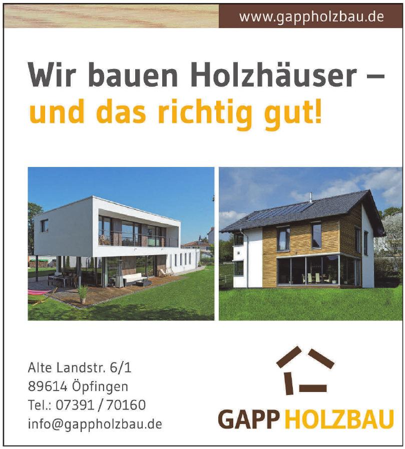 Gapp GmbH Holzbau