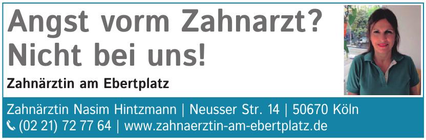 Nasim Hintzmann Zahnarztpraxis am Ebertplatz
