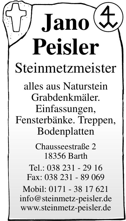 Jano Peisler, Steinmetzmeister