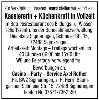Casino – Party – Service Axel Rother