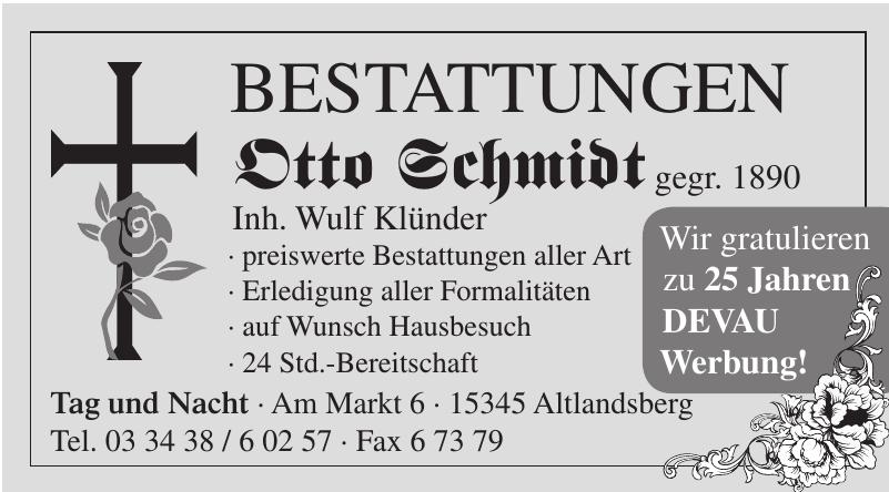 Bestattungen Otto Schmidt