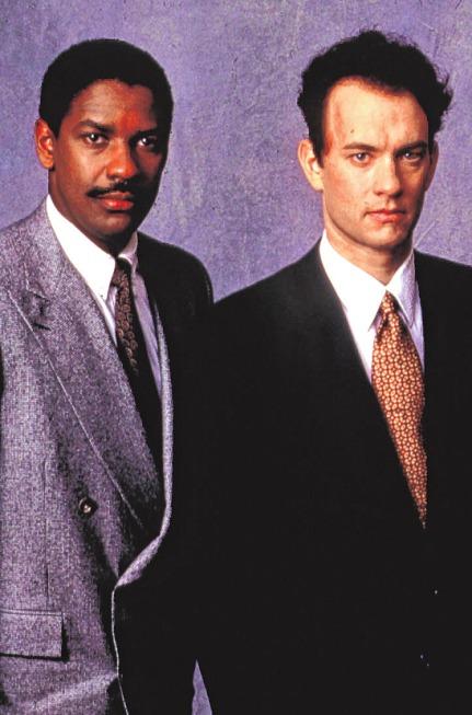 """Denzel Washington und Tom Hanks in """"Philadelphia"""". PA/ UNITED ARCHIVES/TBM"""