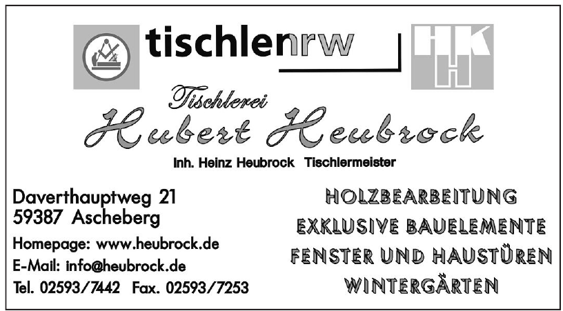 Tischlerei Hubert Heubrock