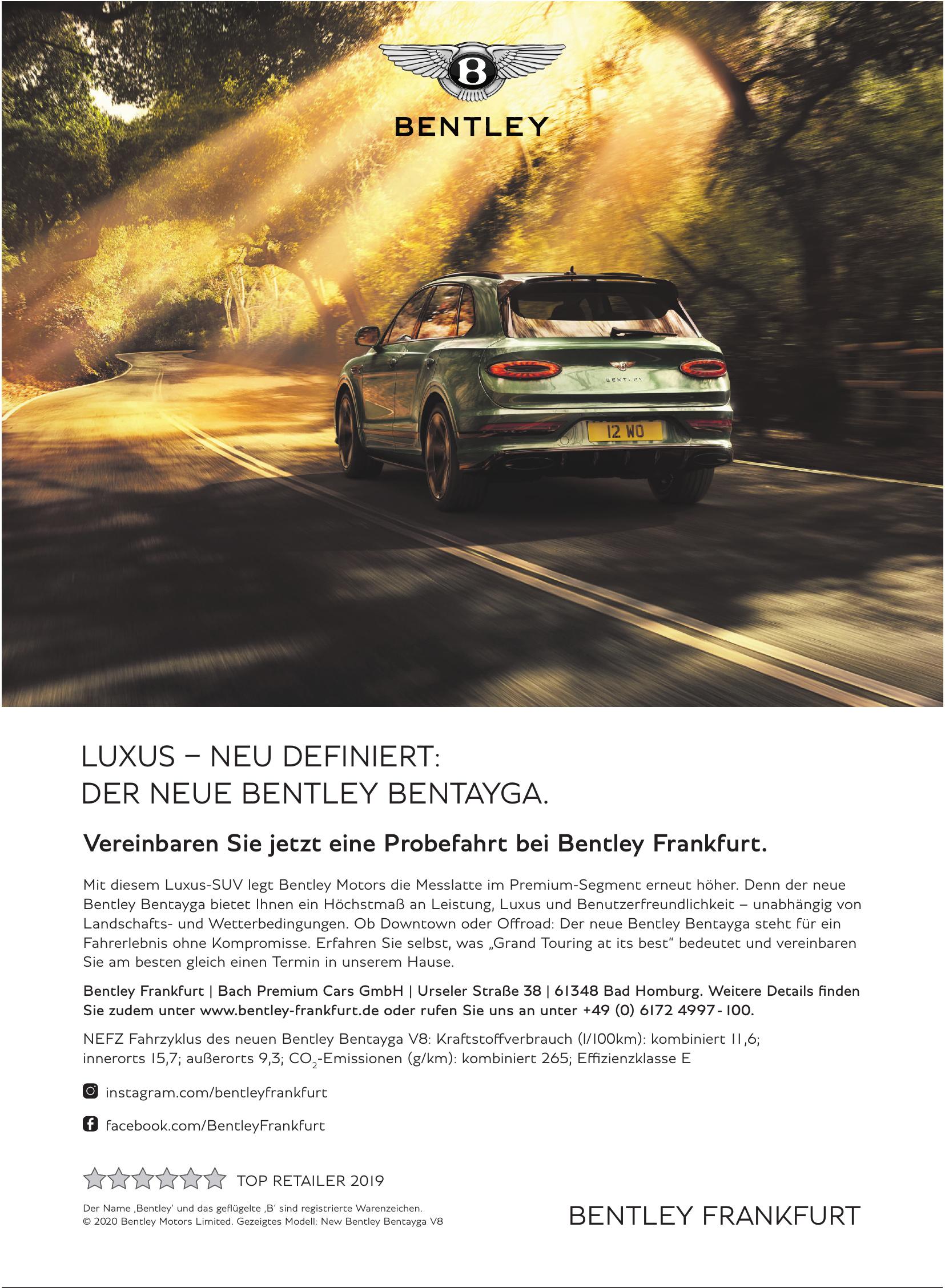 Bentley Frankfurt - Bach Premium Cars GmbH