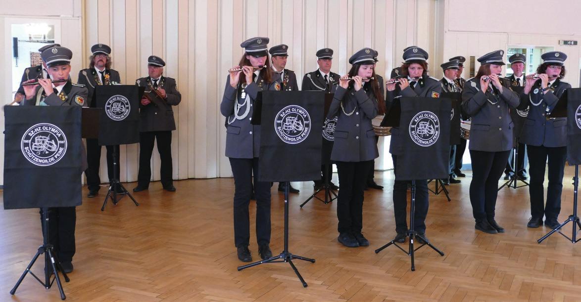 Der Spielmannszug Olympia sorgte für musikalische Unterhaltung.
