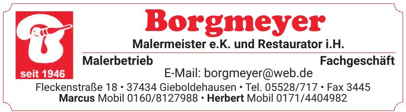 Borgmeyer Malermeister e. K. und Restaurator i.H.