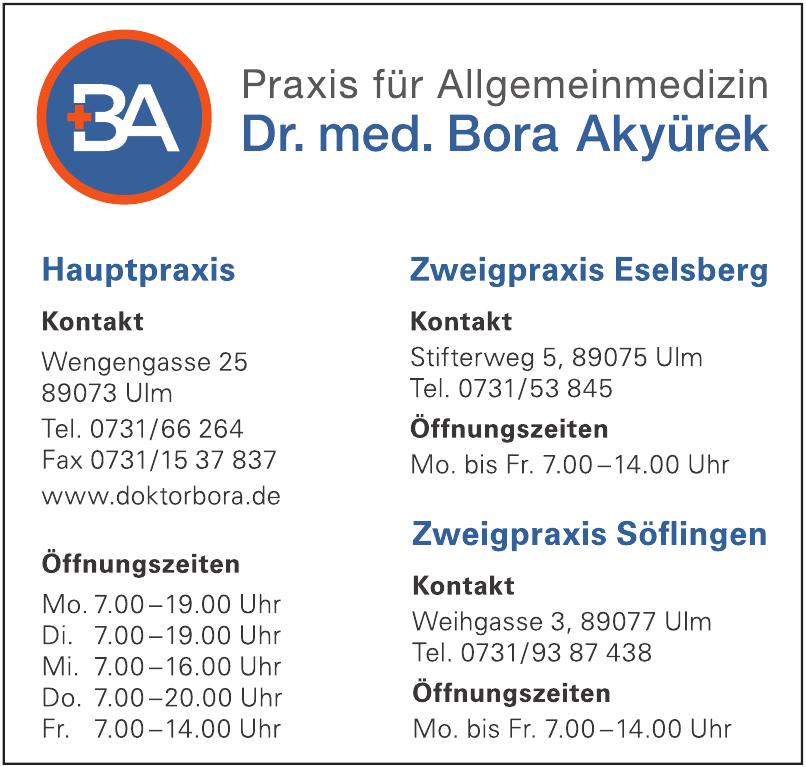 Allgemeinarztpraxis Dr. med. Bora Akyürek Facharzt für Allgemeinmedizin
