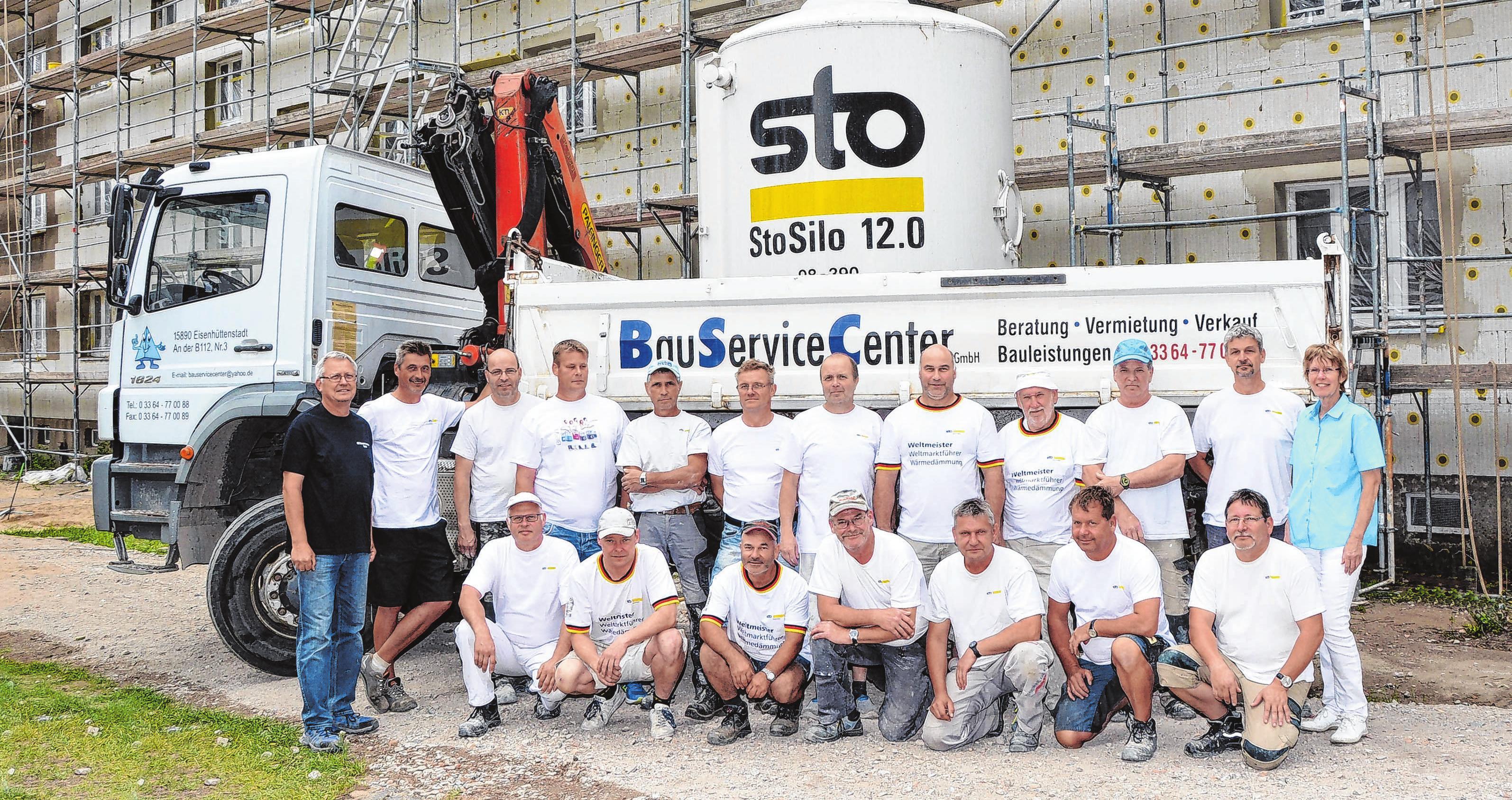 Das 19-köpfige Team blickt mit Stolz auf die erbrachten Leistungen, darunter viele denkmalgeschützte Sanierungsobjekte.