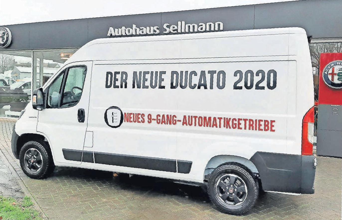 Der neue Fiat Ducato 2020 ist beim Autohaus Sellmann bereits zu besichtigen.