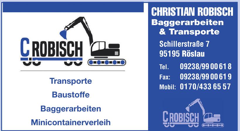Christian Robisch Baggerarbeiten & Fuhrunternehmen