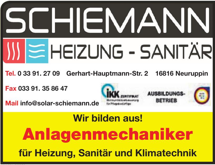 Schiemann Heizung - Sanitär