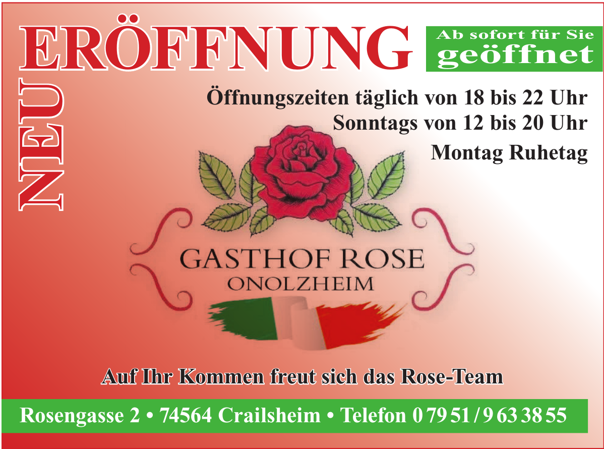 Gasthof Rose Onolzheim