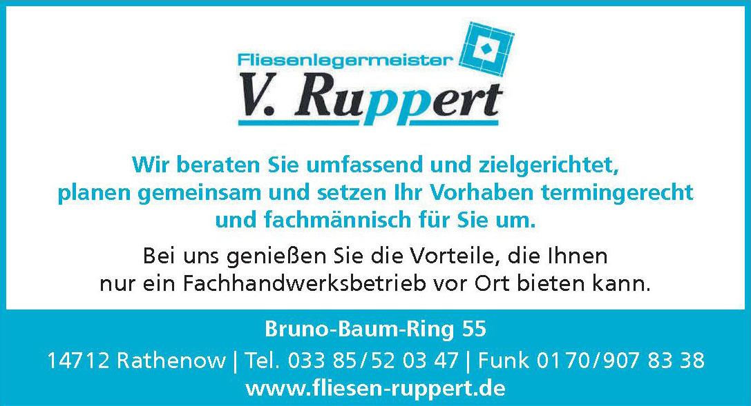 Fliesenlegermeister V. Ruppert