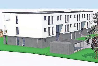 So soll der Neubau an der Prof.-Frege-Straße am Wismarer Kagenmarkt aussehen.     Grafiken (3): Wobau
