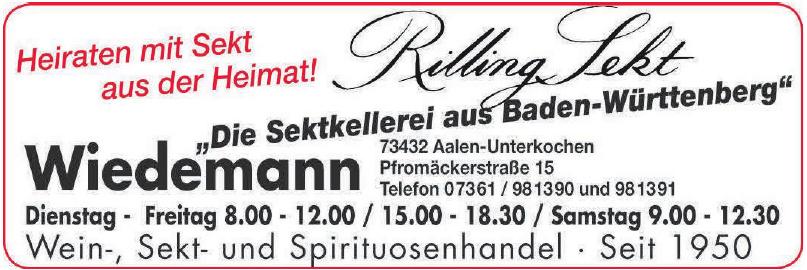 Wiedemann Wein-, Sekt- und Spirituosenhandel
