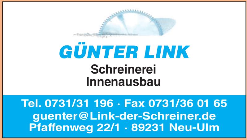 Günter Link Schreinerei Innenausbau