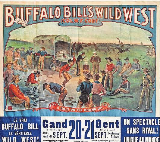 Bleibender Eindruck: Plakat zum Buffalo-Bill-Auftritt in Gent.