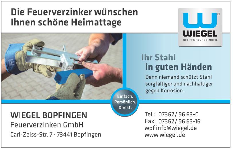 WIEGEL Bopfingen Feuerverzinken GmbH