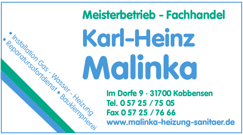 Meisterbetrieb - Fachhandel Karl-Heinz Malinka