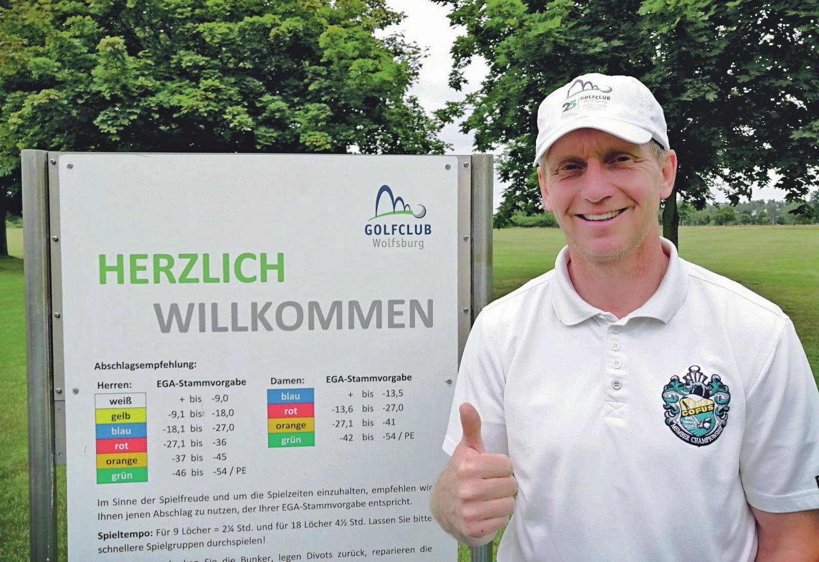 Auch der ehemalige Fußballprofi Roy Präger ist begeisterter Golfspieler in Wolfsburg.
