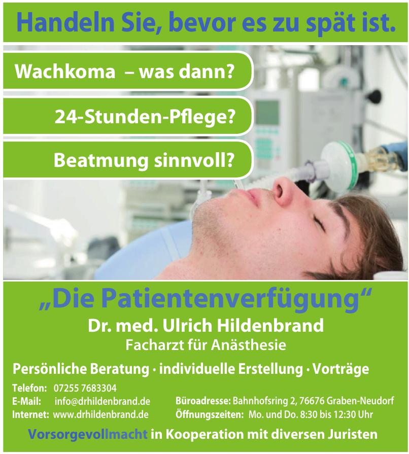 Dr. med. Ulrich Hildenbrand