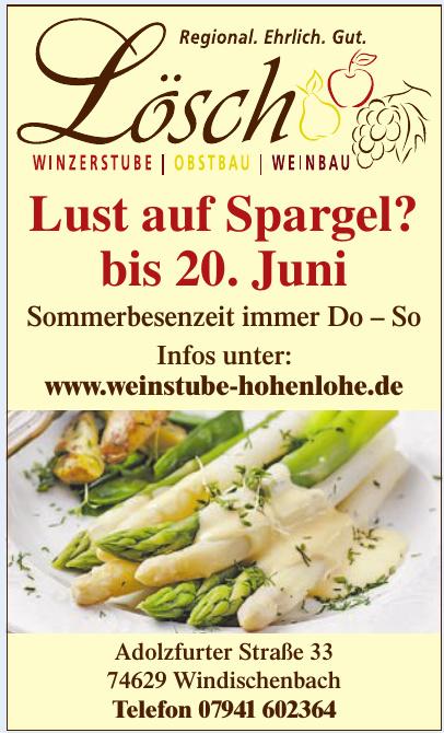 Weinbau – Obstbau – Winzerstube Lösch