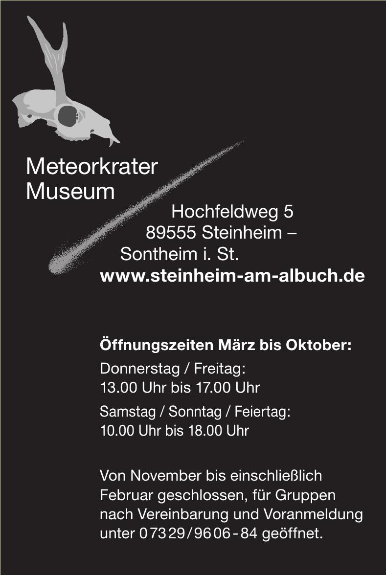 Meteorkrater Museum