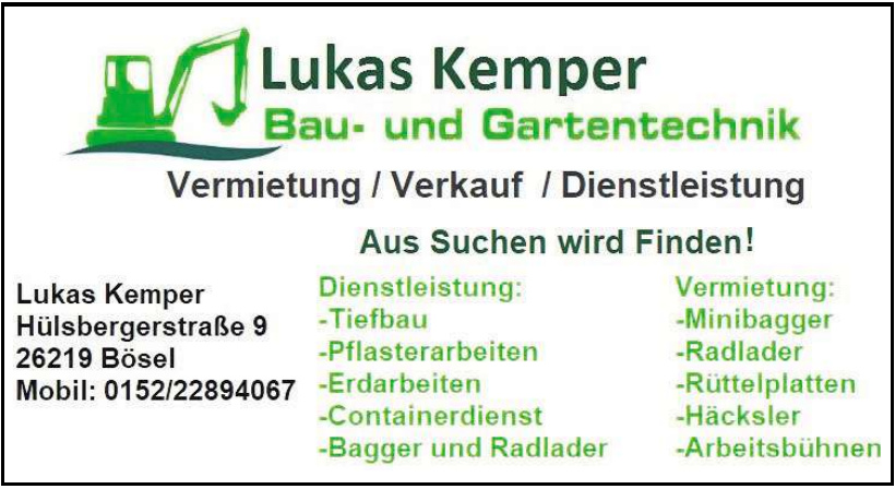 Lukas Kemper Bau- und Gartentechnik