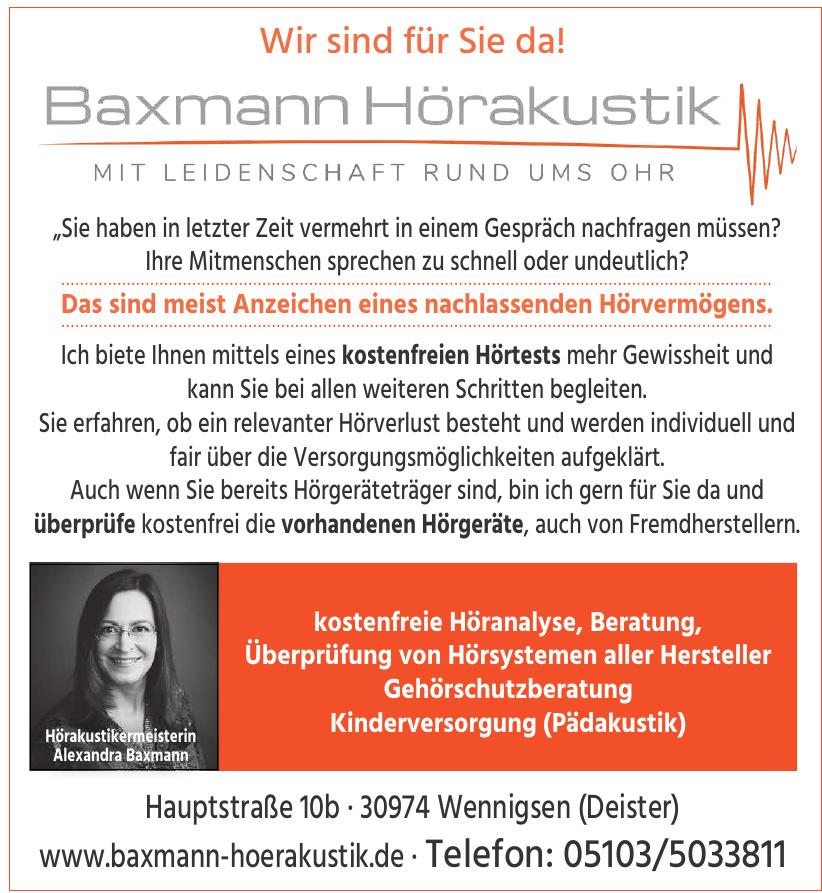 Baxmann Hörakustik