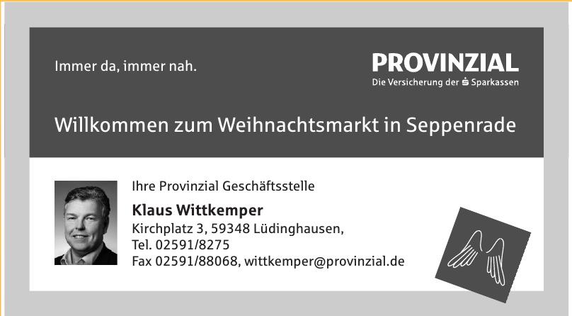 Provinzial Geschäftsstelle Klaus Wittkemper