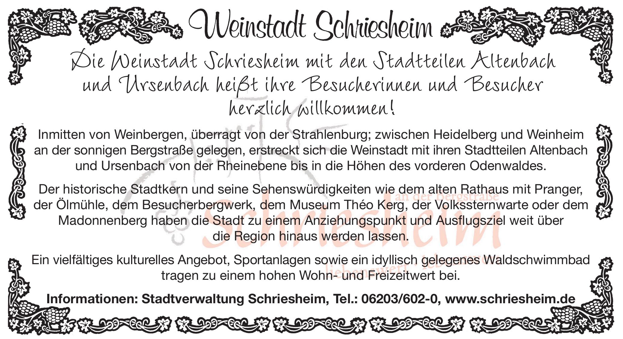 Weinstadt Schriesheim