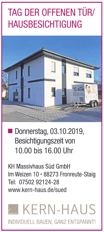KH Massivhaus Süd GmbH