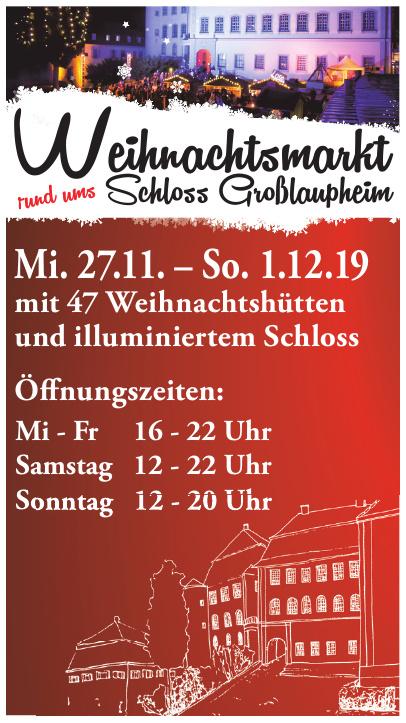 Weihnachtsmarkt Schloss Großlaupheim