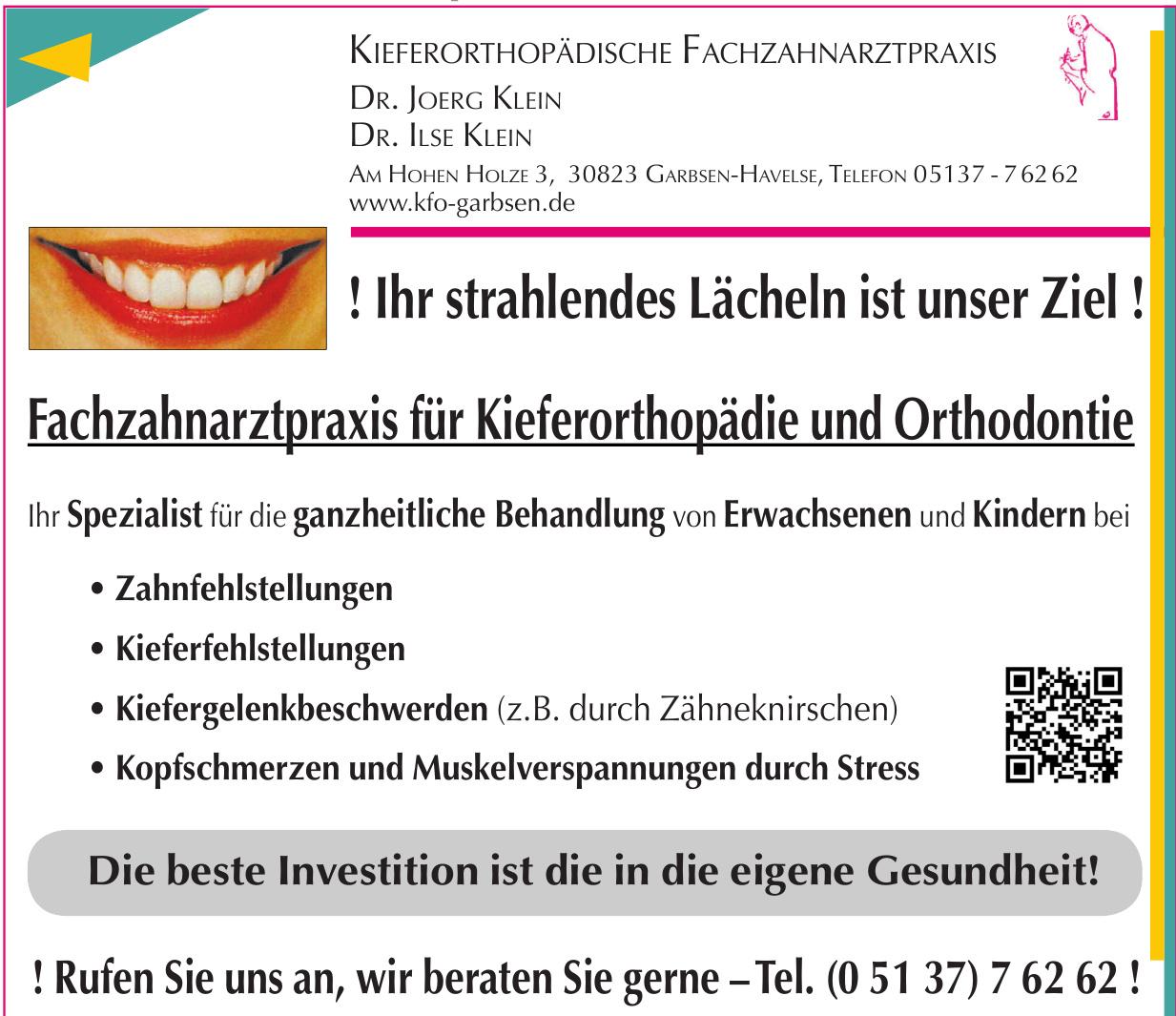 Kieferorthöpädische Fachzahnarztpraxis Dr. Joerg Klein, Dr. Ilse Klein