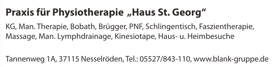 """Praxis für Physiotherapie """"Haus St. Georg"""""""