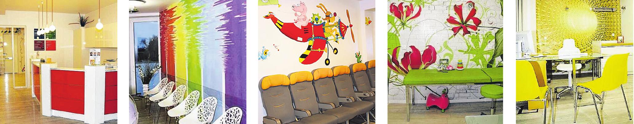 Von wegen Angst vorm Kinderarztbesuch: Die kindgerecht gestalteten Praxisräume haben eine besonders fröhliche Atmosphäre.