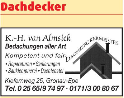 K.-H. van Almsick Bedachungen aller Art