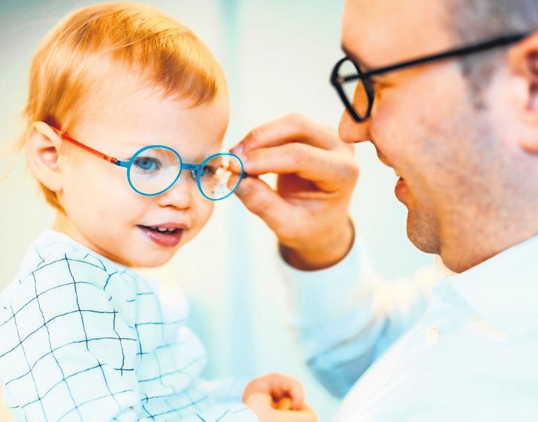 Die Gesundheit der jüngsten Patienten liegt dem Team von Optik & Hörgeräte Berkmann besonders am Herzen.