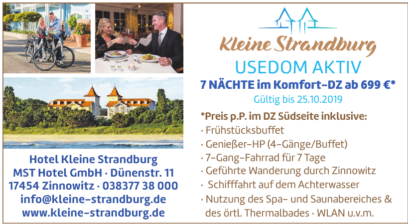 Hotel Kleine Strandburg MST Hotel GmbH