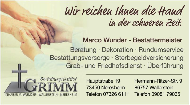 Marco Wunder - Bestattemeister