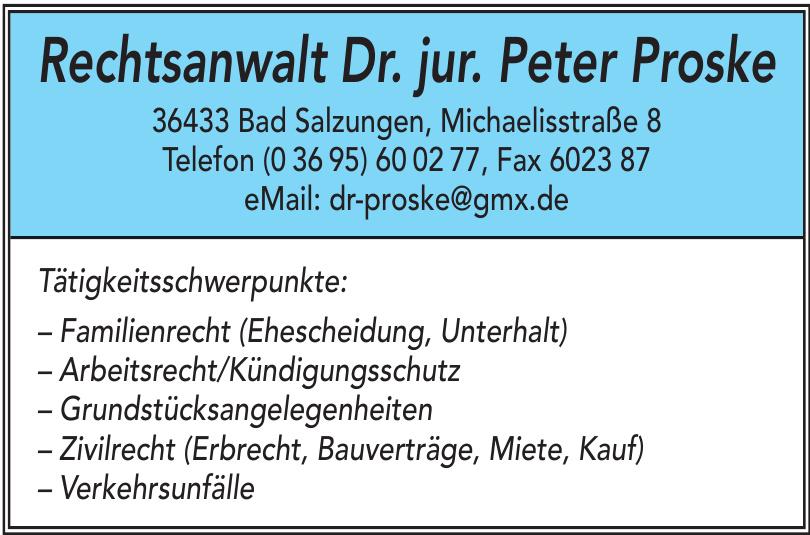 Rechtsanwalt Dr. jur. Peter Proske