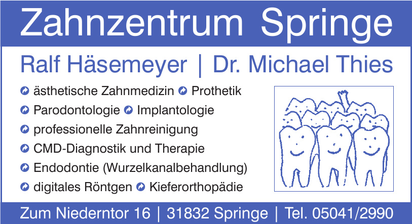 Zahnzentrum Springe - Ralf Häsemeyer - Dr. Michael Thies